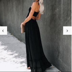 NWOT  Vici Zayn Smocked Backless Halter Maxi Dress